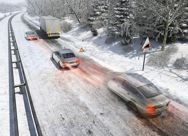 Не совершайте резких маневров на неустойчивой дороге